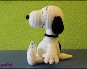 Snoopy grande amigurumi, hecho a mano