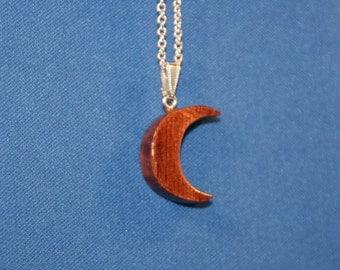 Bubinga Wood Crescent Moon