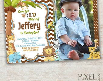 Jungle Birthday Invitation, Jungle Party Invitation, Safari Party Invitation, Jungle Birthday, Jungle Party, Safari Birthday Invitations