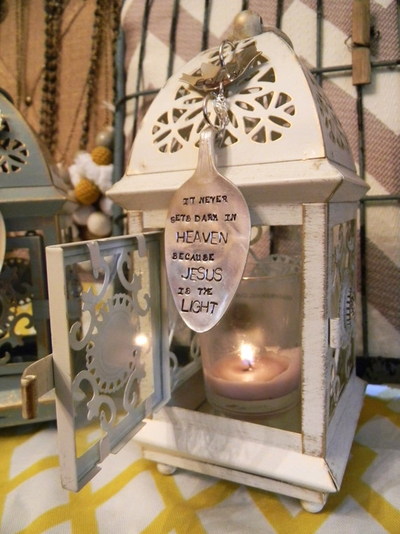 Memorial candle lantern gift after loss of a loved one lantern for ...