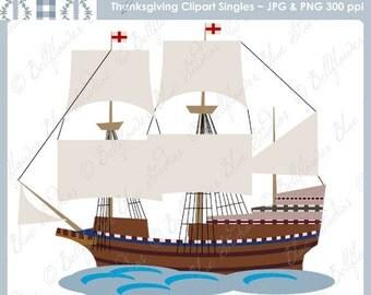 Clip Art Mayflower Clipart mayflower etsy sailing ship digital clipart single from the thanksgiving bundle