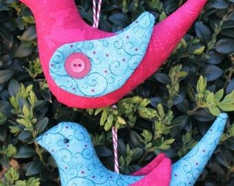 Christmas Bird Decorations PDF Pattern