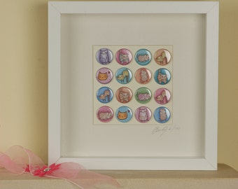 Cute Cat Badge Frame