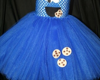 Cookie Monster Inspired Tutu Dress, Cookie Monster Costume, Tutu Dress Cookie Monster, Sesame Street Tutu Dress, Sesame Street, Costumes
