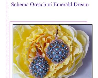 Schema in Italiano orecchini Emerald Dream