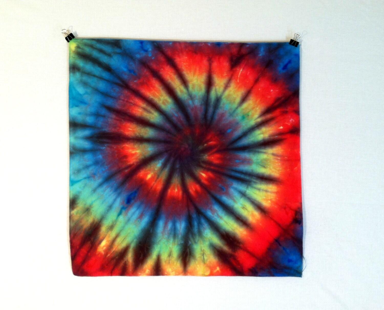 tie dye bandana hair wrap or mini by rainboweffectstiedye