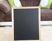 Large Gold Wooden Framed Chalkboard