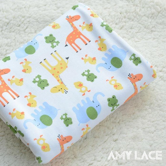 Green frog style cotton fabric baby clothes fabric by for Unisex baby fabric