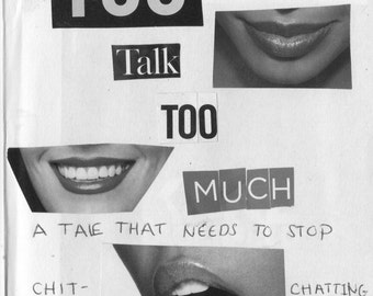 Zine Funny Magazine Intervention Series You Talk Too Much