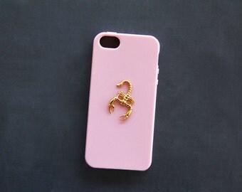 Pink iPhone 5 Case Scorpion Scorpio iPhone 5s Case Animal Gold Zodiac Sign iPhone 6 Case Samsung Galaxy S3 Case Galaxy S4 Cute iPhone 6 Plus