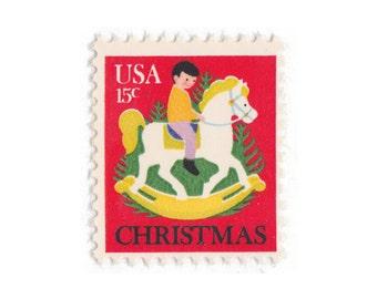 10 Unused Vintage Postage Stamps - 1978 15c Hobby Horse - Item No. 1769