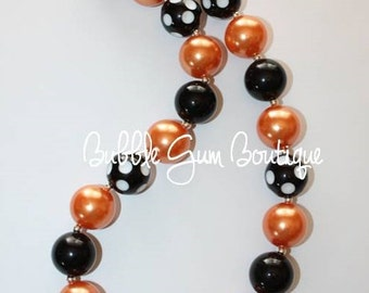 Halloween bubble gum bead necklace