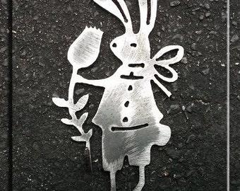 Adorable Metal Art Bunny Hook