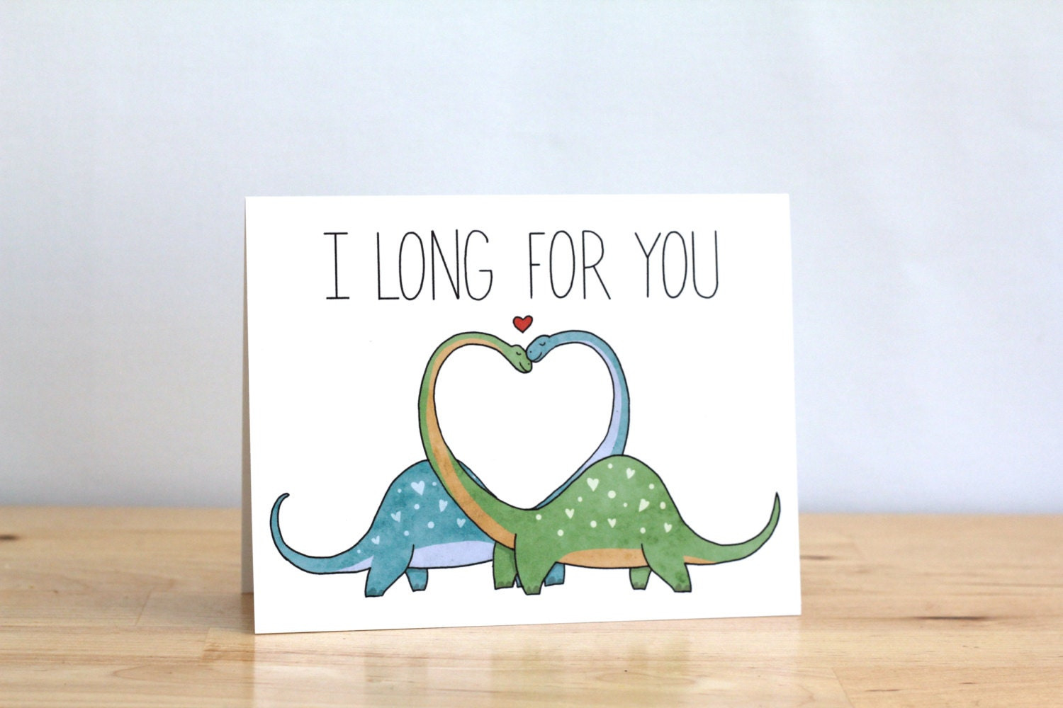 Funny Valentine. I Long For You. Dinosaurs. Dinos. Pun. Blank.