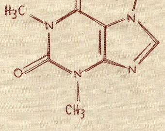 Caffeine Molecule Kitchen Towel