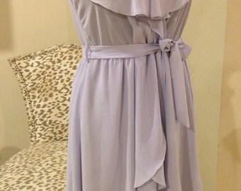 Vintage 1960's Flirty Sweet Lavender Full Circle Rockabilly Dress
