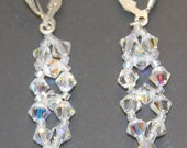 Swarovski Crystal AB Right Angle Weave Dangle Earrings