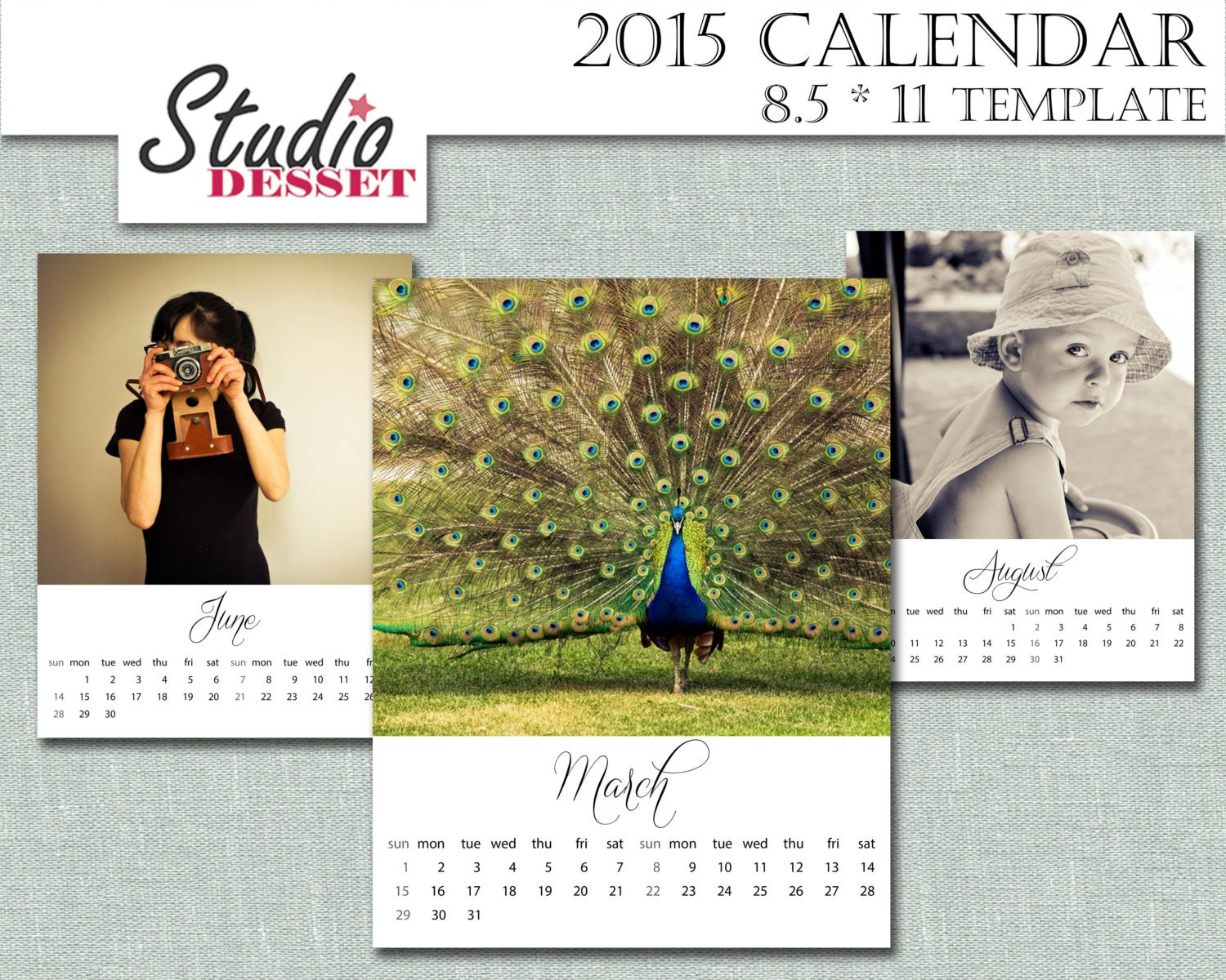 Calendar Diy Software : Calendar diy template by studiodesset