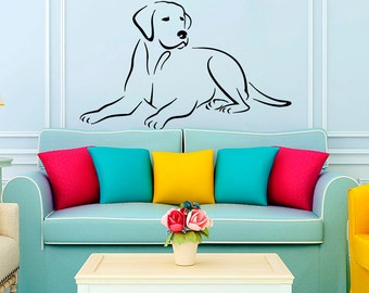Wall Decals Labrador Dog Decal Vinyl Sticker Veterinary Pets Shop Grooming  Salon Decor Art Design Home Part 71