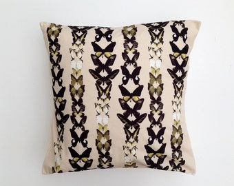 Yellow butterflies pillow cover / cushion cover 18x18 inch (45x45cm) pillow throw, decorative cushion, throw pillow, decorative pillow