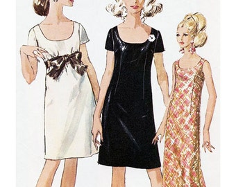 Simplicity 7384 Sewing Pattern Simple-to-Sew Misses Jiffy Dress in 2 Lengths  Size 14