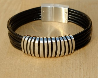LEATHER/STAINLESS STEEL bracelet 10