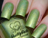 Frosty Mojito by Prettypots Polish - Core Collection - 12ml Handmixed Holographic Aussie Indie Nail Polish Lacquer