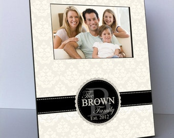 Personalized Picture Frame, Personalized Family Monogram Picture Frame, Family Picture Frame