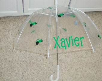 "32"" Kids personalized Tractor Umbrella"