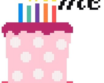Blow Me Cake - Cross Stitch Pattern - Instant Download