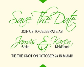 Scripted Save The Date With Chevrons