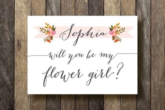 Gargantuan image for will you be my flower girl free printable