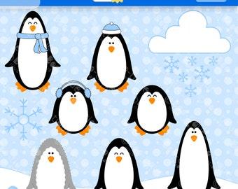 Penguin clip art | Etsy