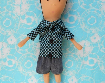 Doll Pattern - Charlie Boy Cloth Doll PDF Sewing Pattern