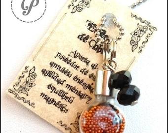 Copper amulet, Mini bottle, Original pendant