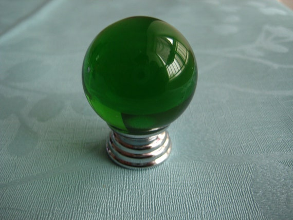 Green Glass Cabinet Knobs And Drawer Pulls: Glass Knobs Crystal Knob Drawer Knobs / Dresser Knob By LBFEEL