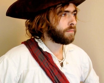 Leather Tricorn Pirate Hat, just like Cap'n Jack Sparrows, hand made and finished.