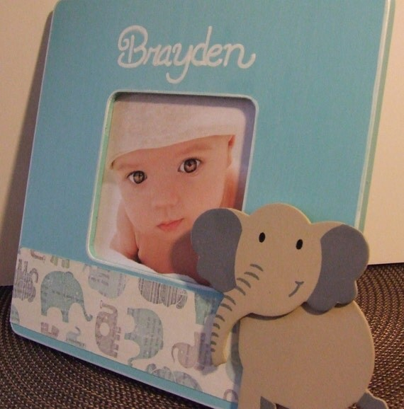 Items similar to personalized baby boy frame gift