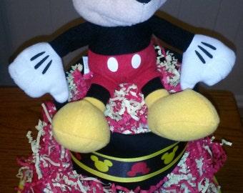 3 Tier Disney Mickey Mouse Diaper Cake