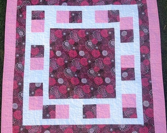Brown And Pink Fabric - Keepsake Quilting