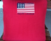 Polo American Flag sweater pillow cover Ralph Lauren 4th of July
