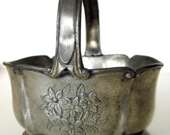 Vintage French Solder Bowl Basket