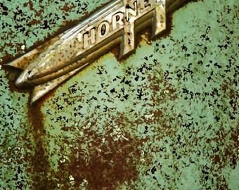 Hudson Hornet Car Art, Peeling Paint, Rust, Vintage, Abstract