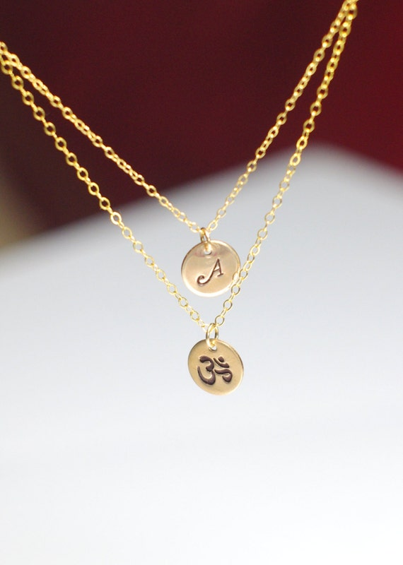om necklace layered om necklace ohm necklace by angelicspark
