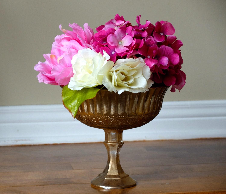 wedding centerpiece centrepiece pedestal vase by peonyandpetunia