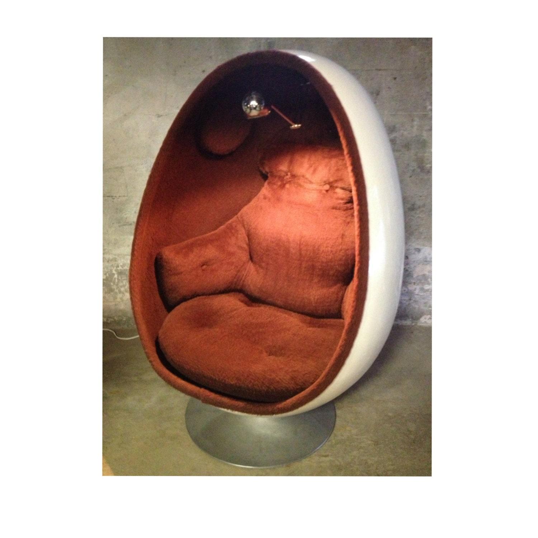 Reserved for rachel mid century modern fiberglass ovalia egg - Fiberglass egg chair ...