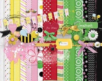 Bee Mine, Digital Scrapbook Kit
