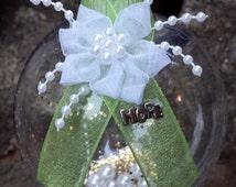 Celiac Disease / HPV / Chronic Pelvic Pain / Sexually Transmitted Diseases (STD) Awareness Christmas Ornament - Light Green Ribbon