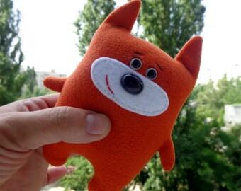 Stuffed Fox toy, plush animal, soft fox, stuffed animals, plush toy, kids toys, toddler toys, soft toy, orange fox, cute fox, woodland fox