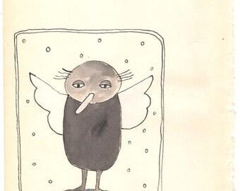 Angel on paper.